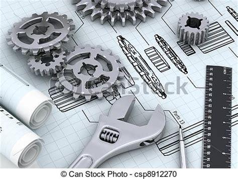 graphics design engineer stock illustration of mechanical engineering concept