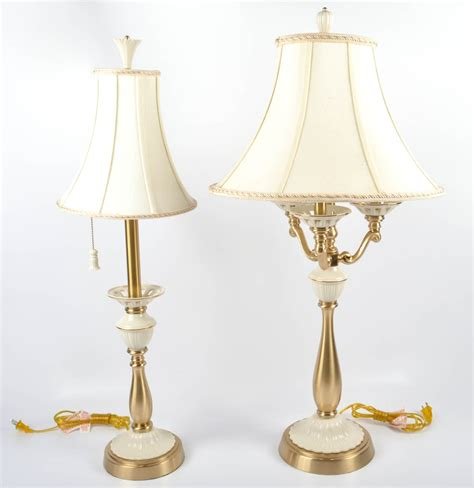 Home Decor Consignment Two Lenox Quoizel Table Lamps Ebth