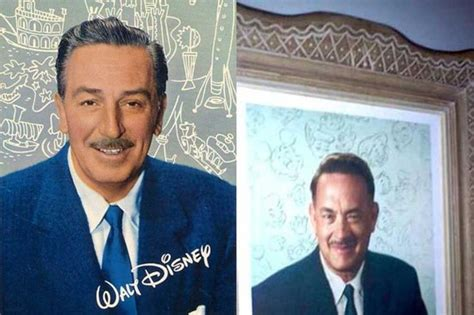 walt disney biography movie tom hanks here s what tom hanks looks like as walt disney in saving