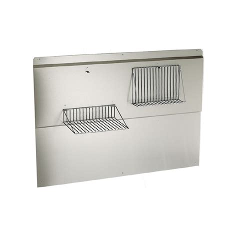 stainless steel backsplash lowes shop broan 30 in elite stainless steel backsplash at lowes