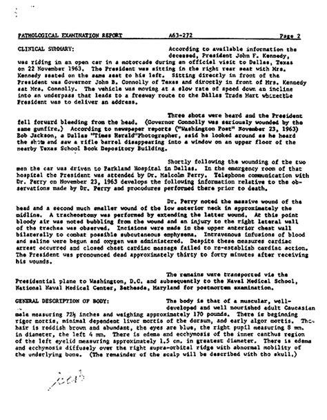 john f kennedy biography report coroner jfk autopsy report the smoking gun jfk rfk