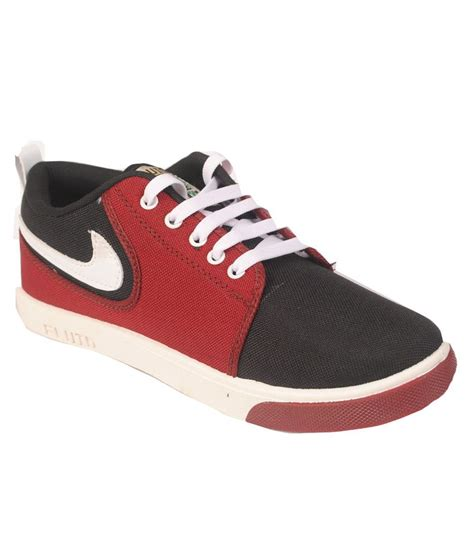 buy fluid maroon canvas shoes for snapdeal