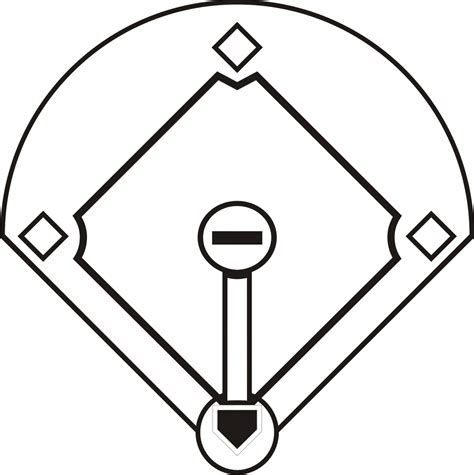 blank baseball diamond template clipart best