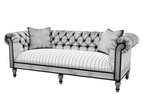 Bassett Chesterfield Sofa Chesterfield Sofa 3d Model Bassett