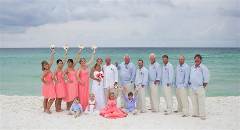 bridal party coral beach wedding 1024 215 558
