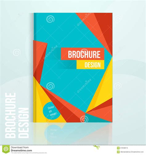 brochure and flyer layout vector 6 vector brochure design template with geometric abstract