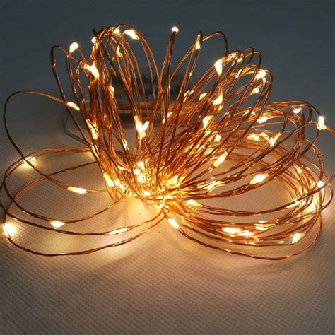 wire lights 10m 100 led 3 aa battery powered decorative led copper