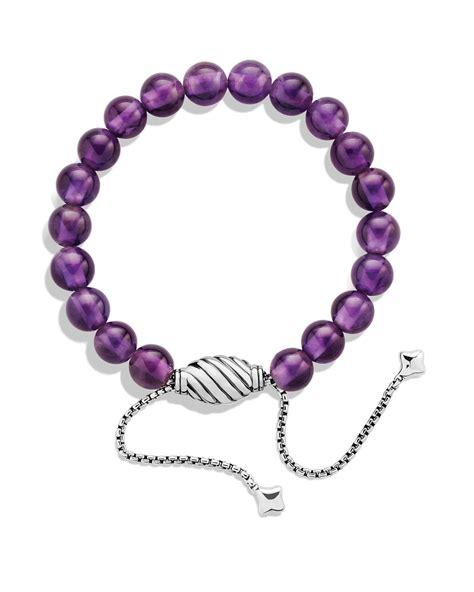 David yurman Spiritual Beads Bracelet With Amethyst in Metallic   Lyst