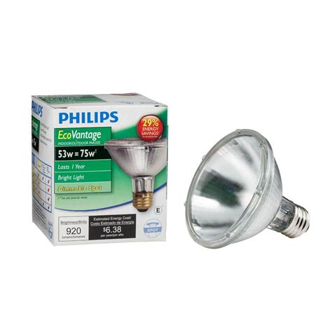 Lu Philips 30 Watt philips 75 watt equivalent par30s halogen dimmable