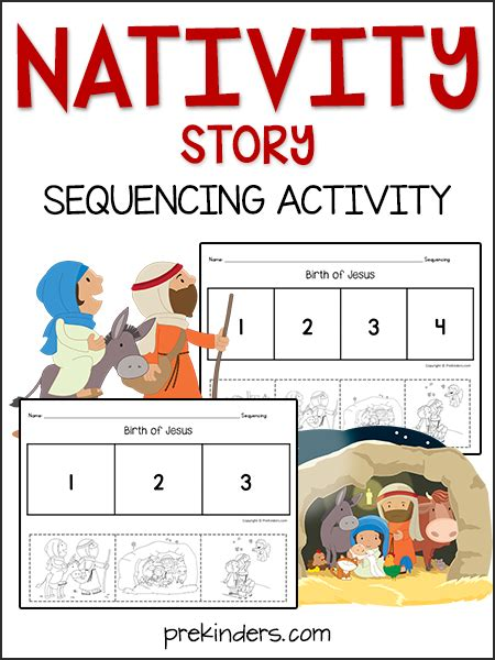 printable children s version of the christmas story nativity story sequencing activity prekinders