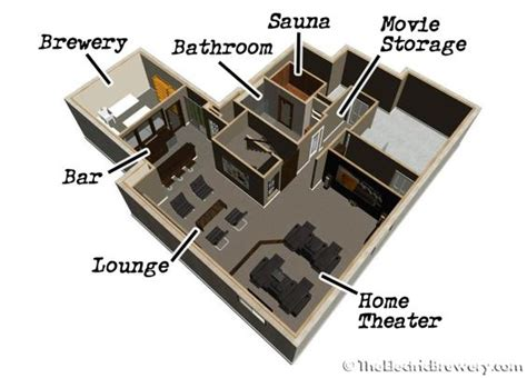 nano brewery floor plan kal s basement brewery bar home theatre build 2 0 some