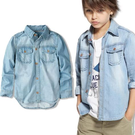 Boy Denim Shirt popular denim shirt boys buy cheap denim shirt boys lots
