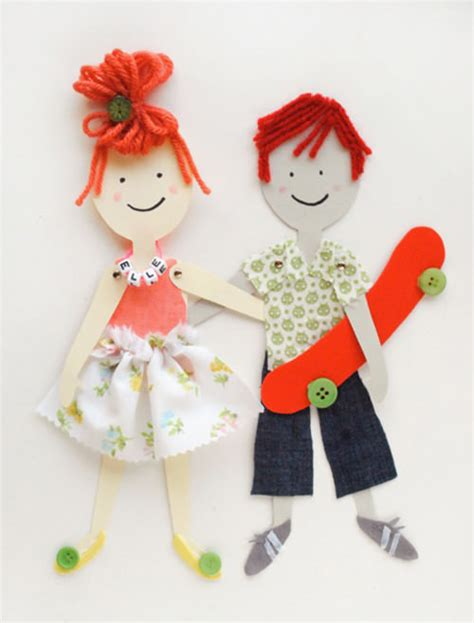 How To Make Doll With Paper - diy articulated paper dolls handmade
