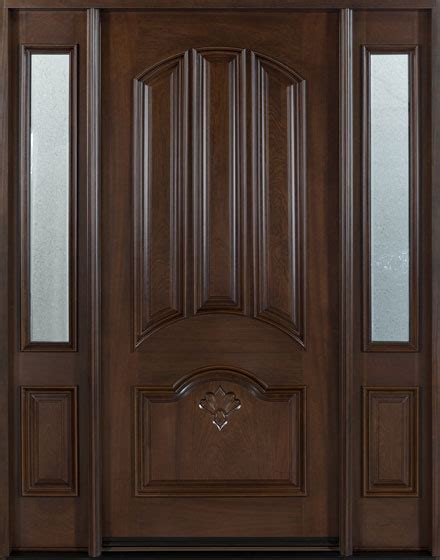 House Front Single Door Design by Front Door Custom Single With 2 Sidelites Solid Wood