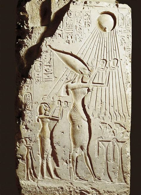 akhenaten and his family akhenaten and his family offering photograph by everett