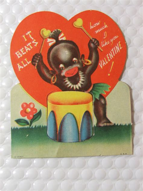 vintage valentine s day cards africans and