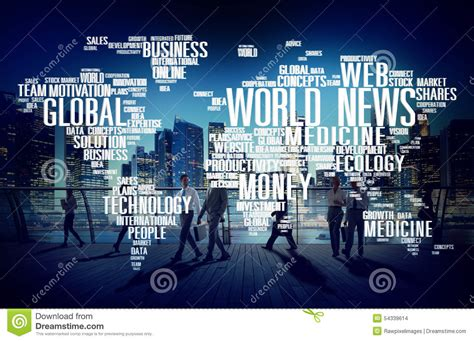 world news world news globalization advertising event media concept