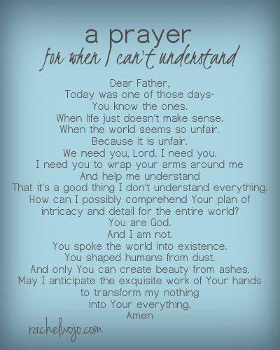 prayers comfort dying a prayer for when i can t understand god s plan