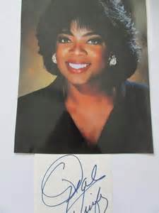 oprah winfrey signature oprah winfrey signed auction 0013 2303670 graysonline