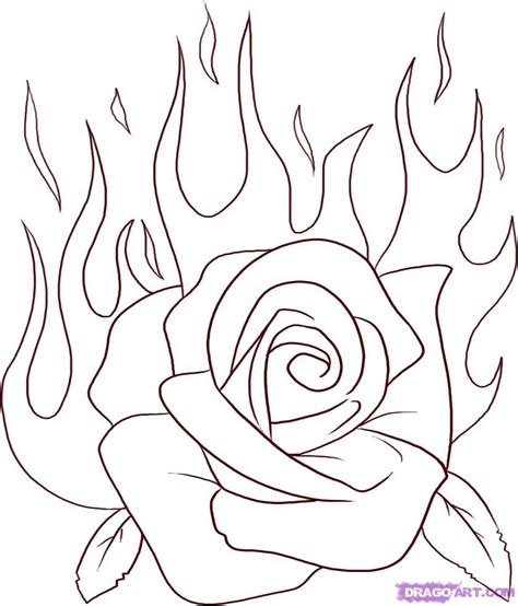 draw a tattoo rose roses drawing step 5 once you are done your sketch