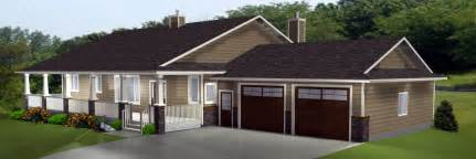 Ranch Style House Plans With Walkout Basement Walkout Basements Plans By Edesignsplans Ca 1