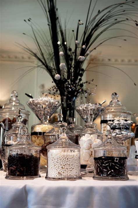Black White Wedding Lolly Buffet The Candy Buffet Company Black And White Buffet