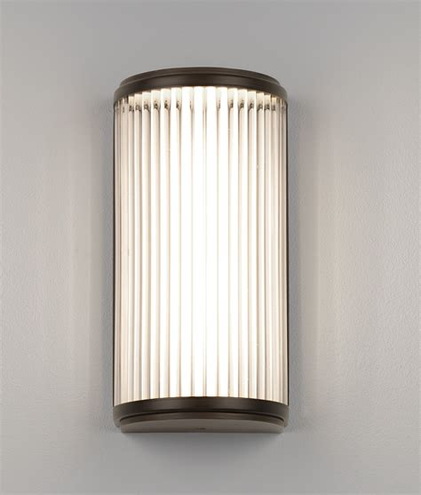 led ip44 wall light glass rods h 250mm