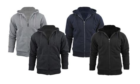 Jaket Hoodie Zipper Sweater Levis clearance s sherpa lined hoodie groupon