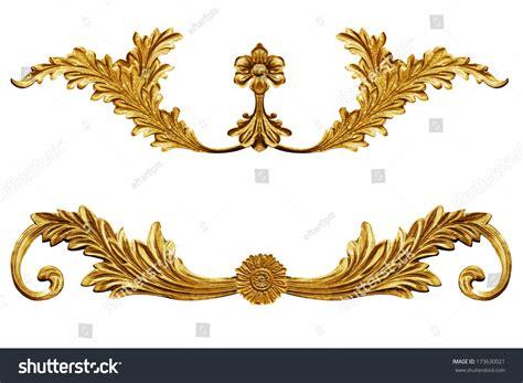 gold vintage design elements vector ornament elements vintage gold floral designs stock photo