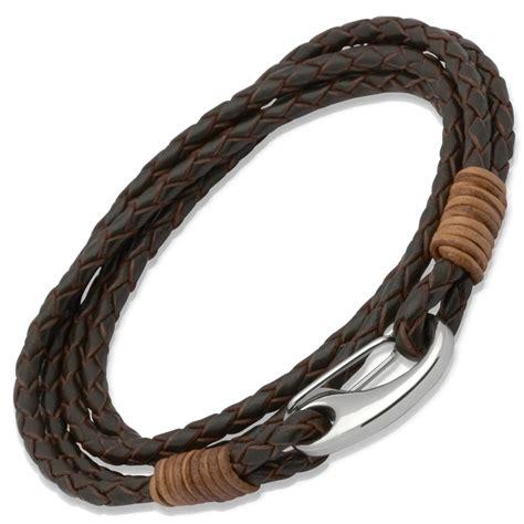 Leather Bracelet 10 light brown binding s 4 coil brown leather bracelet b178db lb 163 24 00 10sterling