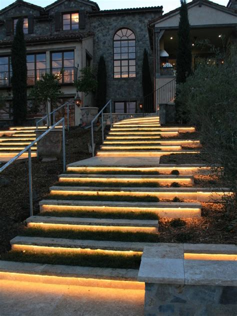 Outdoor Step Lighting Ideas For Romantic Look Of Your Yard Outdoor Lighting For Steps