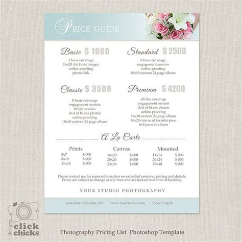 wedding photography price uk wedding photography package pricing list template photography pricing guide price list