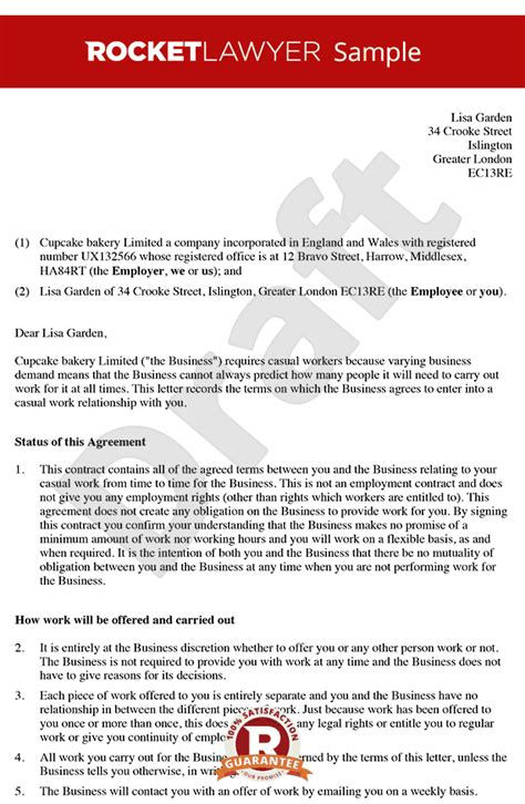 zero hour contract template free free zero hour contract template 0 hour contract