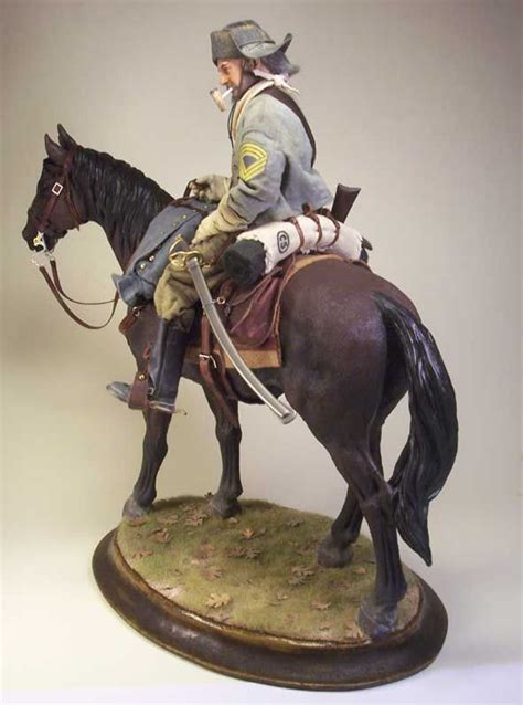 Painting 00 Scale Figures by Sergeant Major Confederate Cavalry 1 6 Scale Model