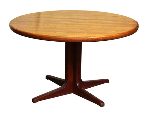Kitchen Table Pedestal Base Mid Century Dining Table On Pedestal Base Olde Things