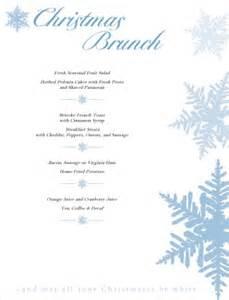 christmas brunch menu christmas menus