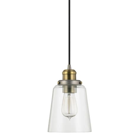 brass mini pendant light graphite and aged brass one light mini pendant with clear