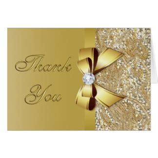 50th Gold Wedding Anniversary Faux 50th Wedding Anniversary Thank You Cards Invitations