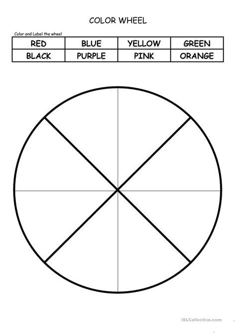 Color Wheel Worksheet by Color Wheel Worksheet Free Esl Printable Worksheets Made