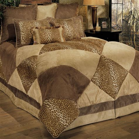 bed set safari patch 8 pc comforter bed set