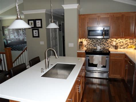 split level kitchen ideas bi level kitchen renovation opened up stairs moved island