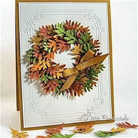 fall cards to make fall wreath card ideas