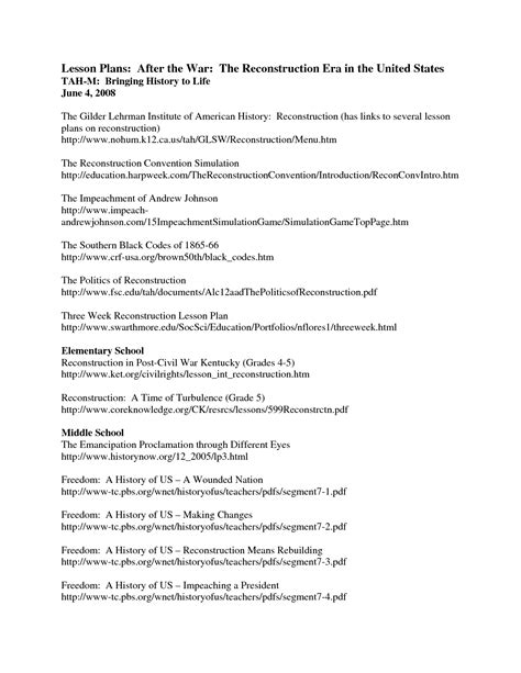 The Politics Of Reconstruction Worksheet Answers by College Essays College Application Essays