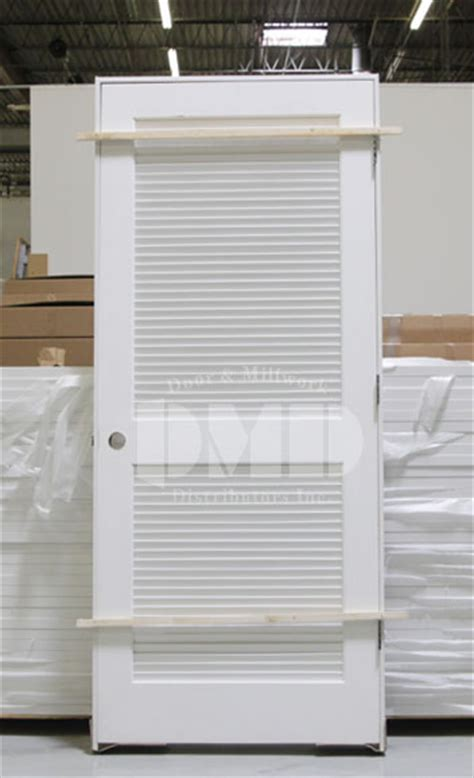 Louvered Exterior Doors Louver Primed Interior Door 6 8 Quot 80 Quot Door And Millwork Distributors Inc Chicago