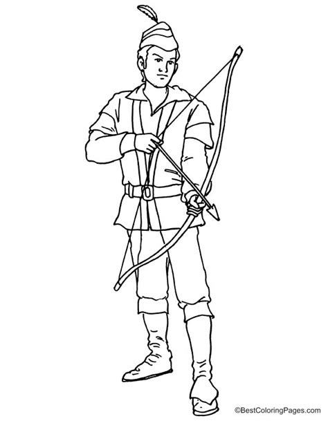 robin hood free coloring pages