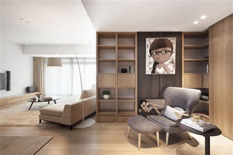 master bedroom with living room pure apartment by js space taiwan