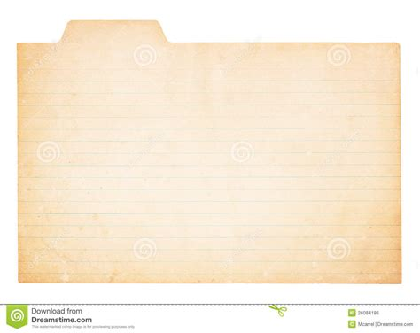 tabbed index card template vintage tabbed index card stock photo image of distressed