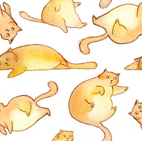 cat wallpaper tile stephanie vecellio fat cat pattern