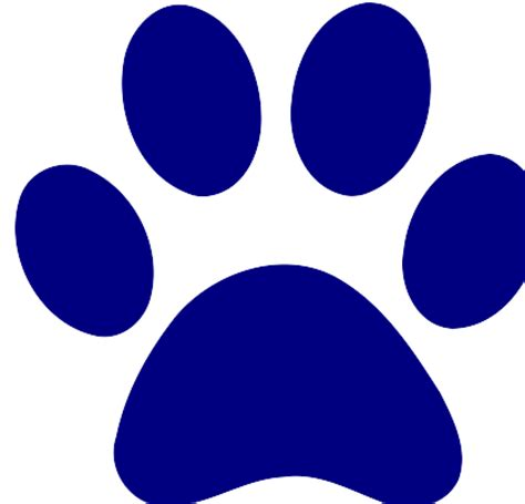Navy Paw Print Clip by The Gallery For Gt Blue Paw Print