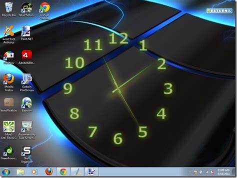 clock themes pc computer download how to add clock on desktop